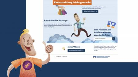 A website aimed to encourage German retailers to accept card payments. - Slide