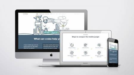 Performance marketing made simple on the new crobo website.  - Slide